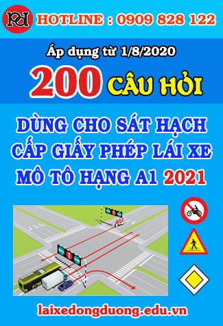 thi thử 200 câu hỏi thi bằng lái xe a1 2021