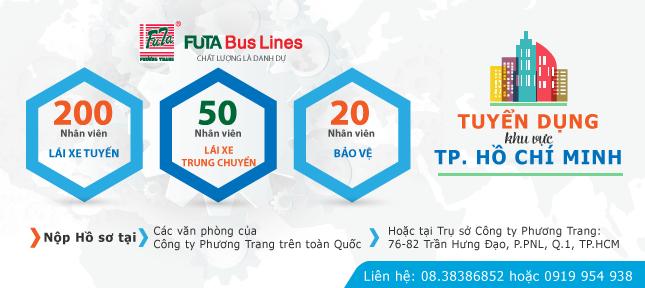 Futataxi tuyển dụng nhân sự khu vực TPHCM