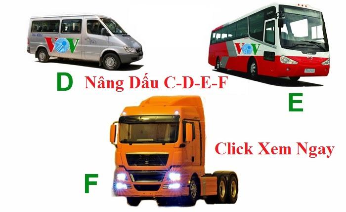 Nâng dấu các hạng bằng B1, B2, C, D, E, F, FC