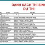 Danh sách A1 khóa 24A2019 – Hội Đồng Phổ Quang