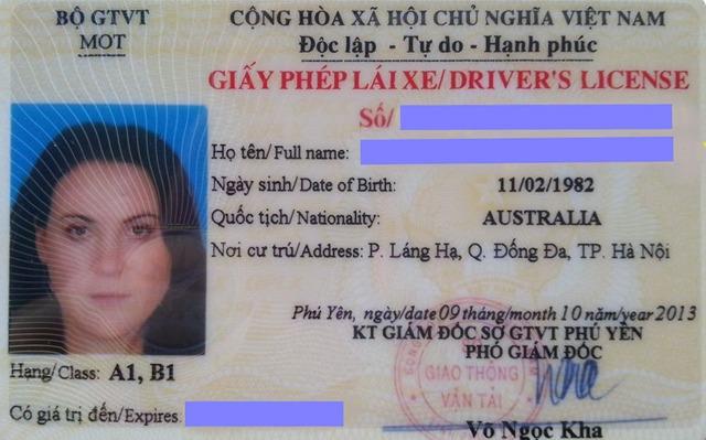 Thủ tục dành cho người nước ngoài thi bằng lái xe tại Việt Nam